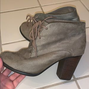 attention Shoes - Suede Booties